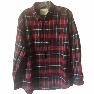 Weatherproof Flannel Shirt Red and Black